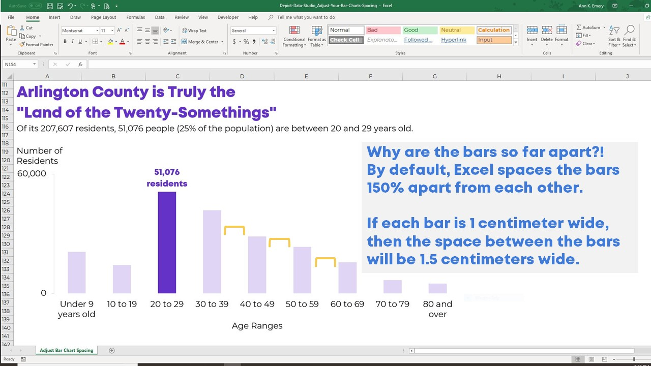 How to Adjust Your Bar Chart's Spacing in Microsoft Excel | Depict