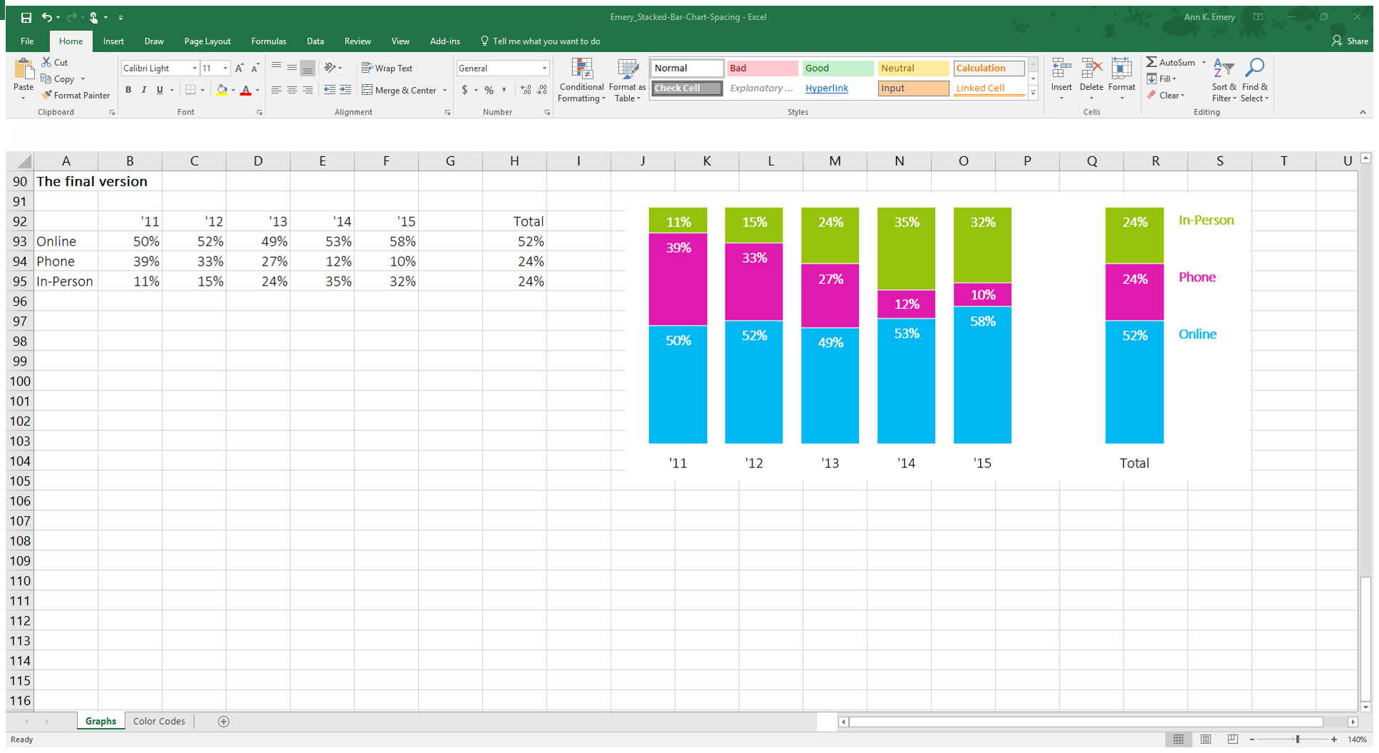 How To Adjust Your Column Chart S Spacing In Excel Depict Data Studio