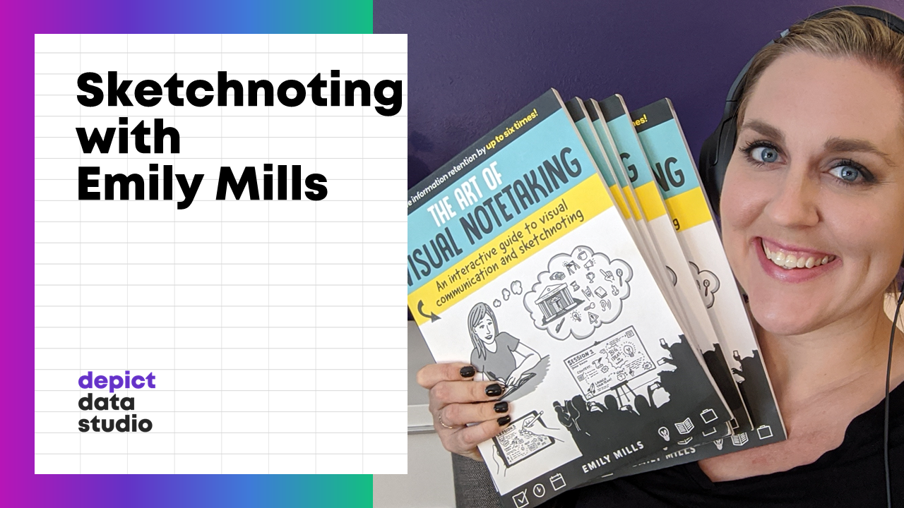 Emily Mills was a guest who taught us the art of sketchnoting.