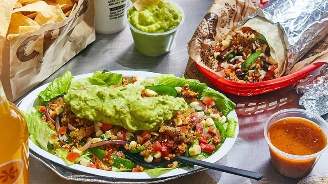 healthy food at Chipotle